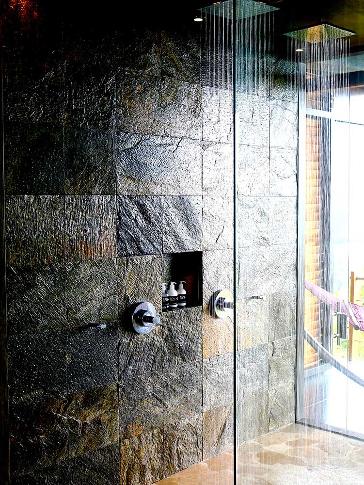 Glass Double Rainfall Showers